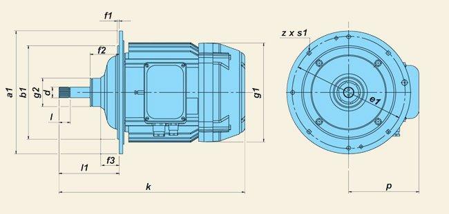 Электродвигатели серии КГЕ (для канатных электроталей)