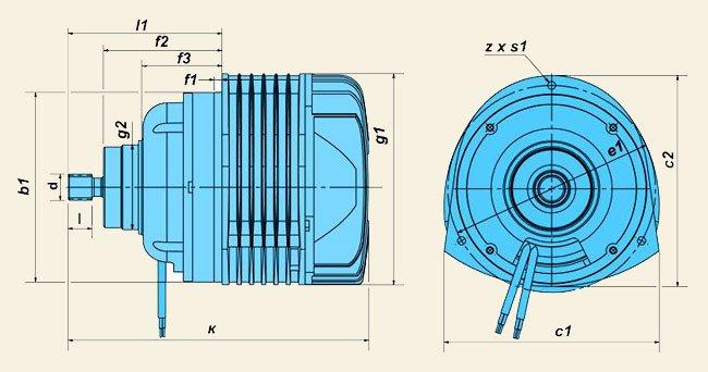 Электродвигатели серии КГЕ (для цепных электротельферов)