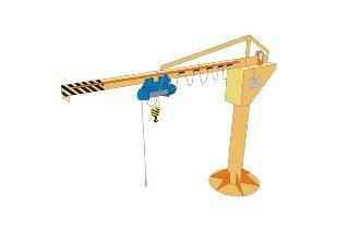 консольный кран с электрическим поворотом стрелы