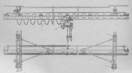Описание работы электрической схемы мостового крана 111