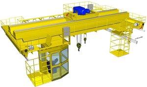 Кран мостовой 15 т для вагоностроительных производств